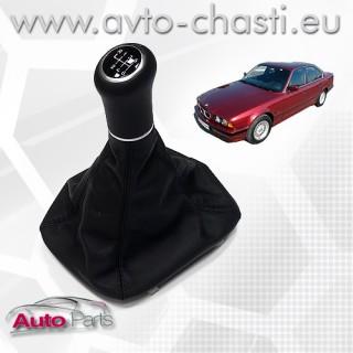 Топка за скоростен лост с кожен маншон и лайстна за BMW E34