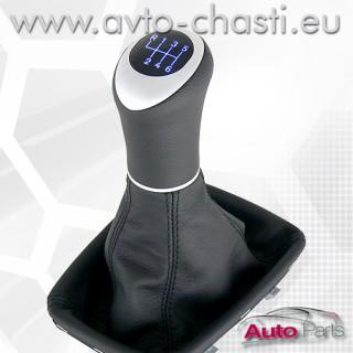 Светеща топка за скоростен лост с кожен маншон и лайстна за Audi A6 4B