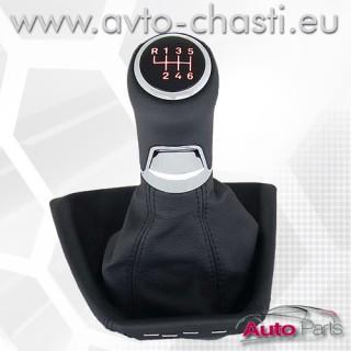 Топка за скоростен лост с кожен маншон и лайстна за BMW E39
