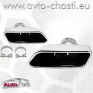 Накрайници за ауспуха на BMW 5 F10/F11 /Хром/