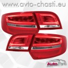 Стопове за AUDI A3 SPORTBACK /Facelift червено-кристал/
