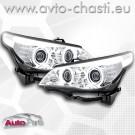 Фарове за BMW 5 E60 /D1S Xenon CCFL - хром/
