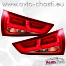 Стопове за AUDI A1 /червено-кристал/